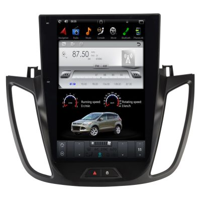 Belsee Best Aftermarket 12.1 inch Tesla Style Touch Screen Display Android 9.0 Head Unit Auto Radio for Ford Kuga Escape 2013 2014 2015 GPS Navigation Audio System Stereo Upgrade Apple CarPlay PX6 Ram 4GB Rom 32GB Multimedia Player