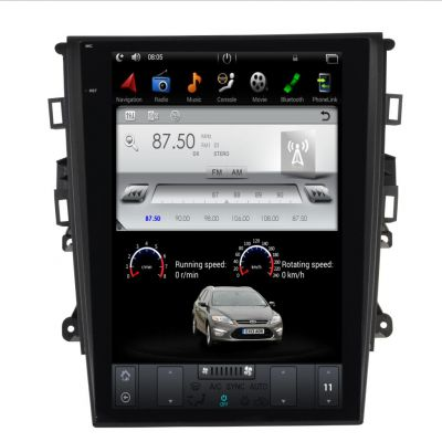 Belsee Aftermarket 12.1 inch IPS Tesla Style Screen Android 9.0 Car Head Unit Auto Radio for Ford Mondeo Fusion MK5 2013 2014 2015 2016 2017 In Dash GPS Navigation System Audio Video Stereo Player Multimedia Bluetooth Receiver PX6 Hexa Core Ram 4GB