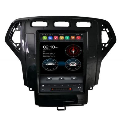 Belsee 9.7 inch IPS Touch Screen Vertical Tesla Style Android 9 Auto Head Unit Radio Replacement for Ford Mondeo MK4 2007-2010 Wireless Apple CarPlay Best Aftermarket GPS Navigation Audio Video Multimedia Player Bluetooth Wifi PX6 Ram 4G Rom 64GB Sat  Nav