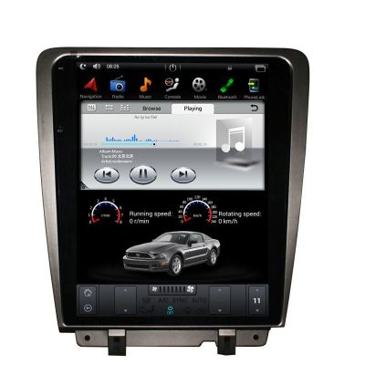 Belsee Aftermarket 12.1 inch Tesla Style Touch Screen Display Android 7.1 PX3 / 9.0 PX6 Auto Head Unit Radio Replacement for Ford Mustang 2010-2014 In Dash GPS Navigation Multimedia Player Stereo Upgrade Apple CarPlay Android Auto Wifi Bluetooth