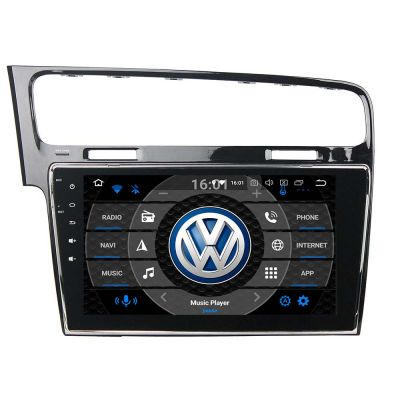 Belsee 10.1 inch Touch Dual Screen Sat Nav VW Volkswagen Golf 7 MK7 2013-2019 Android 10 Q Head Unit Auto Radio Upgrade Car Stereo PX6 PX5 Ram 4GB Rom 64GB DSP In-Dash GPS Navigation Sound System with Bluetooth 4K Video Player Mirror Link