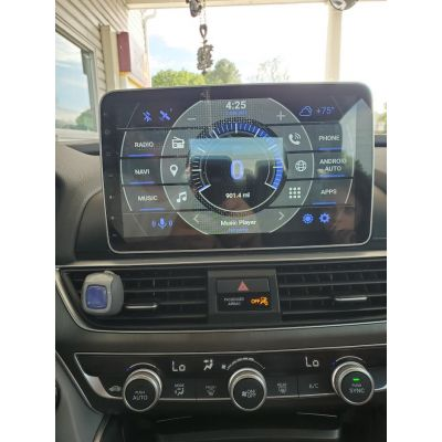 Belsee Best Aftermarket Android 9.0 Pie Auto Head Unit Car Stereo Upgrade Radio Replacement Parts for Honda Accord 10th gen 2018 2019 In Dash GPS Navigation System 10.1 Inch IPS Touch Screen with DSP Amplifier Six Core PX6 Ram 4GB Rom 64GB Apple Carplay
