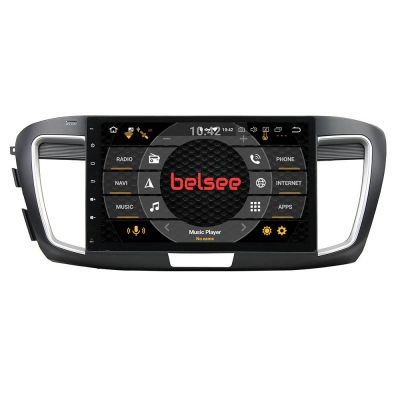 Belsee Best Android 9.0 Pie Car Stereo Upgrade Radio Replacement Auto Head Unit parts for Honda Accord 9 9th gen 2013 2014 2015 2016 2017 Low Level 10.1 Inch IPS Touch Screen Octa Core Ram 4GB GPS Navigation System Multimedia Player Apple Carplay
