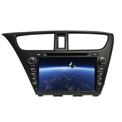 Belsee Best Aftermarket Car Radio In Dash GPS Navigation System Android 8.0 Oreo Auto Head Unit for Honda Civic Hatchback 2013 2014 2015 AutoRadio 8