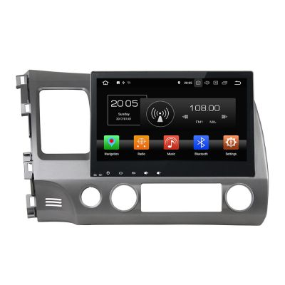 Best Best Aftermarket Honda Civic 2006-2011 Head Unit Replacement Double 2 Din Android 8.0 Oreo Auto Stereo Upgrade 10.1
