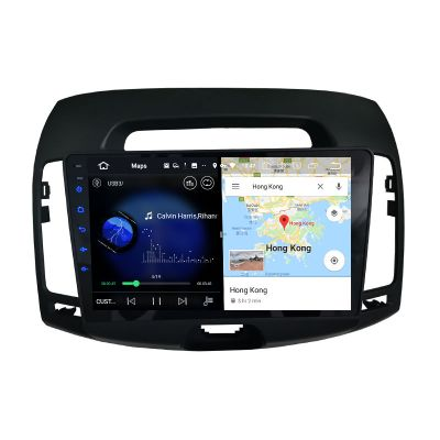 Belsee Best Aftermarket Android 10 Auto Head Unit GPS Navigation System Stereo Upgrade for Hyundai Elantra 2007-2010 9 inch Touch Screen Radio Replacement Bluetooth Wireless Apple CarPlay Bluetooth Wifi Multimedia PX6 Player DSP Ram 4GB Rom 64GB