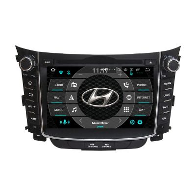 Belsee Best Aftermarket OEM Car Head Unit Hyundai i30 2011-2017 Stereo Upgrade Android 10 Car Radio Replacement CD DVD Audio Video Player 7 inch Touch Dual IPS Screen GPS Navigation Audio Multimedia Player Google Maps WiFi Bluetooth PX6 Ram 4GB Rom 64GB D