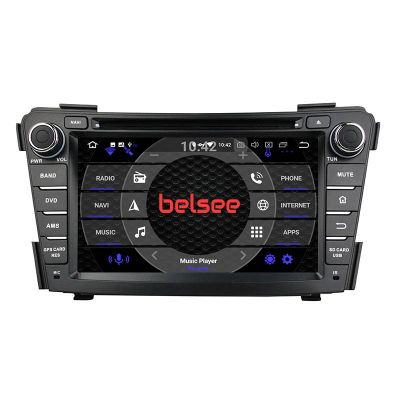 Belsee Best Aftermarket Radio Wireless Apple CarPlay Android 10 Auto Head Unit DVD GPS Navigation System for Hyundai i40 2011 2012 2013 2014 7 inch Dual IPS Touch Scren Video Audio Player Stereo Upgrade Radio Replacement PX6 Back Up Camera Multimedia Sat