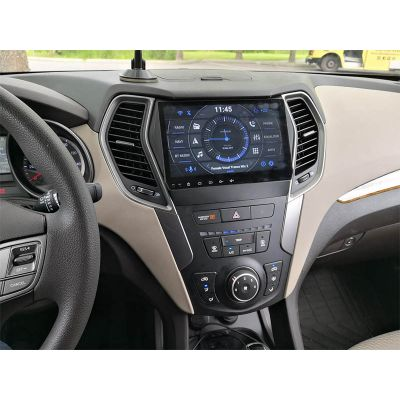 Belsee Best Aftermarket Hyundai IX45 / Santa Fe 2013-2017 Auto Stereo Upgrade Head Unit Android 10 Q Double 2 Din Car Radio Replacement GPS Navigation System 9 inch Touch IPS Screen Apple CarPlay PX6 Ram 4GB Rom 64GB DSP Audio Multimedia Wifi Bluetooth