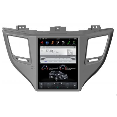 Belsee Best Aftermarket Android 10 Auto Head Unit Tesla Style 10.4 inch Touch Screen Radio Replacement for Hyundai Tucson 3 2015-2018 GPS Navigation Audio System Bluetooth Wifi PX6 Apple CarPlay Multimedia Player Stereo Upgrade Sat Nav