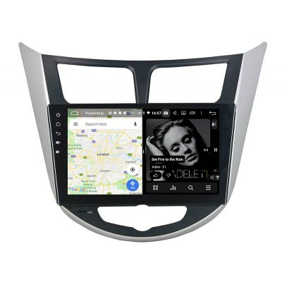 Belsee Best Aftermarket Android 9.0 Auto Head Unit Car Stereo Upgrade Multimedia Player for Hyundai Verna Accent Solaris i25 2011-2016 GPS Navigation Audio Video System 9 inch IPS Touch Screen DSP Apple CarPlay PX6 Ram 4G Rom 64GB Sat Nav