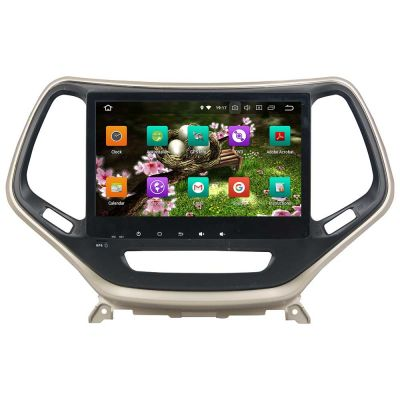 Belsee Aftermarket Android 8.0 Oreo Auto Head Unit Car Radio Stereo for Jeep Grand Cherokee 2014-2018 10.1 Inch IPS Dual Touch Screen Audio Video Multimedia Player GPS Navigation System Octa Core PX5 Ram 4GB Rom 32GB support Carplay Android Auto TPMS OBD2