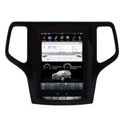 Belsee Aftermarket 10.4 Inch Tesla Style IPS Screen Android 9.0 Radio Upgrade Head Unit Stereo for Jeep Grand Cherokee 2014 2015 2016 2017 2018 Video Audio Multimedia Player GPS Navigation System PX6 Ram 4GB Apple CarPlay