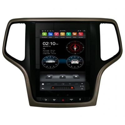 Belsee Best Aftermarket Stereo Upgrade for Jeep Grand Cherokee 2010-2018 Wireless Apple CarPlay Android 9 Auto Head Unit 9.7 inch Touch IPS Vertical Screen Audio Video Player Multimedia Radio Replacement GPS Navigation System Sat Nav PX6 Wifi Ram 4G DSP