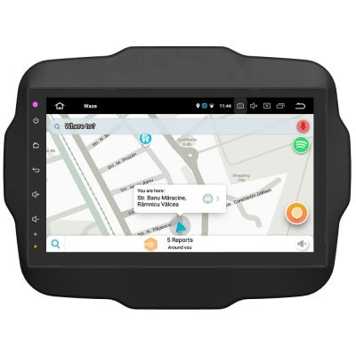 Belsee Aftermarket 9 Inch IPS Touch Screen Android 8.0 Oreo Head Unit Stereo Auto Radio for Jeep Renegade 2015 2016 2017 Octa Core PX5 Ram 4GB Rom 32GB GPS Navigation Car Audio Multimedia System Carplay Android Auto Bluetooth Wifi TPMS OBD2