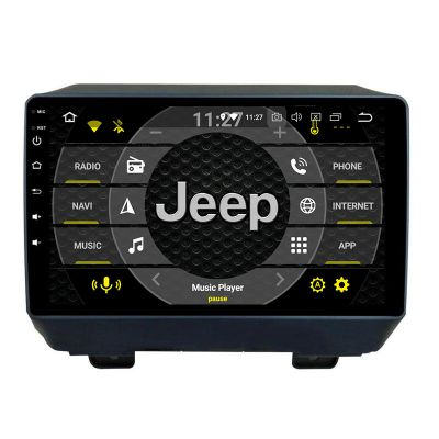 Belsee Best Aftermarket Android 9.0 Auto Head Unit Stereo Upgrade Radio replacement part for Jeep Wrangler 2018 2019 2020 9 inch Touch Screen IPS PX6 Ram 4GB Rom 64GB In Dash GPS Navigation Audio System Multimedia Player Apple CarPlay Android Auto Sat Nav