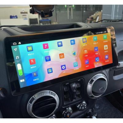 Belsee Best Aftermarket 12.3 inch HD 1920*720 Touch Screen Radio Replacement Android 10 Auto Wireless Apple CarPlay for Jeep Wrangler 2011-2017 4G LET Head Unit Stereo Upgrade GPS Navigation System Audio Multimedia Player Wifi Bluetooth Sat Nav Octa Core