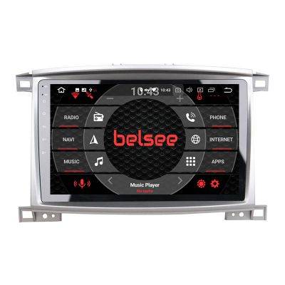 Belsee Best Wireless Android 10 Auto Apple CarPlay Head Unit for Toyota Land Cruiser LC 100 Lexus LX470 J100 2 II 2002-2007 Car Radio Replacement Multimedia Video Player GPS Navigation System Stereo Upgrade PX6 Wifi Bluetooth 10.1 Touch Screen Display