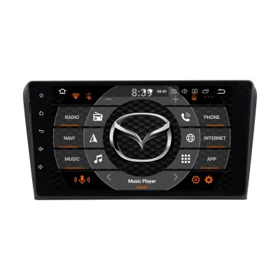 Belsee Aftermarket 9 Inch Touch Screen Radio Android 8.0 Oreo Car Stereo for Mazda 3 2003 2004 2005 2006 2007 2008 2009 Octa Core PX5 Ram 4GB Rom 32 GB Double Din Head Unit Audio GPS Navigation System support Wifi Bluetooth Steering wheel controls Carplay