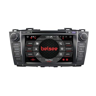 Belsee Best Aftermarket Stereo Upgrade Wireless Apple CarPlay Android 10 Auto Head Unit Car Radio Replacement for Mazda 5 Premacy 2009 2010 2011 2012 2013 8 inch Dual IPS Screen GPS Navigation Audio System Bluetooth Wifi Back Up camera Audio Video SAt Nav