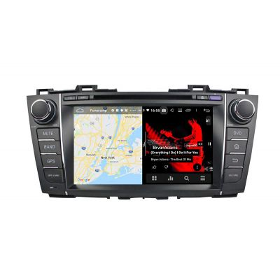 Belsee Best Aftermarket Android 9.0 Auto Head Unit Car Radio Replacement Stereo Upgrade for Mazda 5 Premacy 2009 2010 2011 2012 2013 PX6 Ram 4GB Rom 64GB GPS Navigation System Multimedia Player Audio Video Bluetooth DSP 8 inch IPS Touch Screen CarPlay