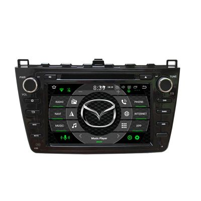 Belsee Best Aftermarket Car Audio System Stereo Upgrade Mazda 6 Ruiyi Ultra 2008-2012 Radio Replacement Android 10 Q Auto Head Unit 8 inch Touch Dual IPS Screen Ram 4GB Rom 64GB Octa Core PX5 PX6 4K Video DVD/ CD Player Multimedia GPS Navigation