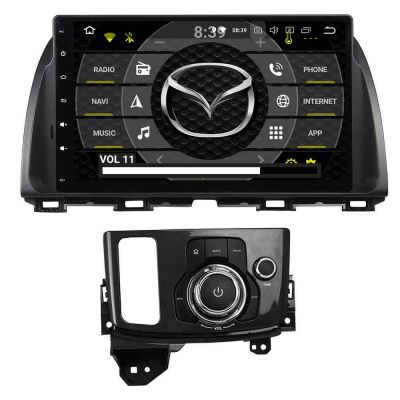 Belsee Best Aftermarket Stereo Upgrade Mazda CX-5 CX5 CX 5 2012-2016 Android 10 Auto Head Unit 10.1 inch Touch Screen Car Radio Replacement Audio GPS Navigation Multimedia Player Apple CarPlay PX6 DSP Ram 4GB Rom 64GB Video Bluetooth Receiver Sat Nav Wifi
