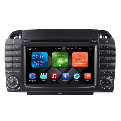 Belsee Best Aftermarket Mercedes-Benz S-Class W220 CL-Class W215 Android 8.0 Oreo Double 2 Din Car Radio Audio GPS Navigation System Head Unit 7