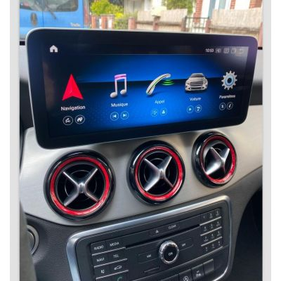 Belsee Best Aftermarket Android 10 Q Auto Head Unit Radio Replacement 10.25 inch Touch Screen Upgrade for Mercedes-Benz A-Class W176 GLA-Class X156 CLA-Class C117 2013-2018 Apple CarPlay In Dash GPS Navigation Audio Video Multimedia Player System Bluetoot