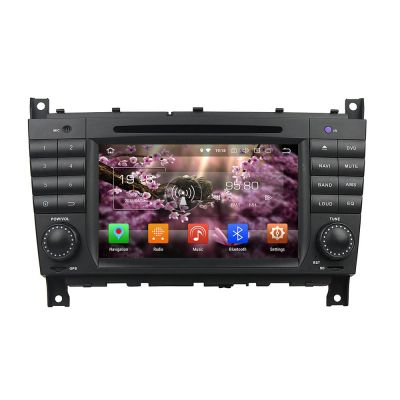 Belsee Aftermarket Android 8.0 Oreo Auto Head Unit Stereo Upgrade for Mercedes-Benz C-Class W203 W467 7 inch Double 2 Din Touch Dual Screen Radio Audio In Dash GPS Navigation System Video 4K DVD CD Player Octa 8 core Ram 4GB Rom 32GB Carplay Android Auto