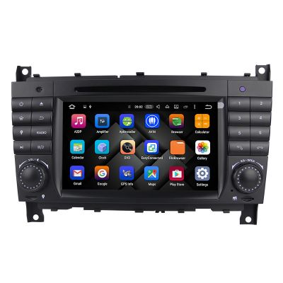 Belsee Mercedes Benz w203 In Dash Car Radio Navigation System Android 8.0 Oreo Octa Core Ram 4GB Rom 32GB Head Unit Touch Screen Autoradio W209