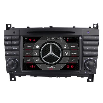 Belsee Best Aftermarket Mercedes Benz w203 W209 In Dash Car Radio Navigation System Android 10 Auto Head Unit Touch Screen Autoradio Radio Replacement Stereo Upgrade Octa Core Apple CarPlay Wifi Bluetooth Multimedia Player DVD DSP Sat Nav GPS