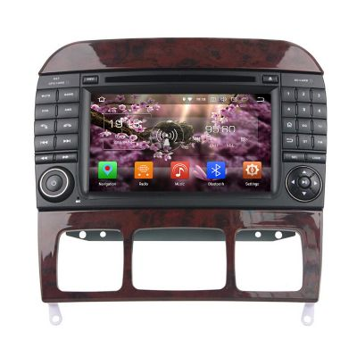 Belsee Aftermarket 7 Inch Dual Touch Screen Radio Android 8.0 Oreo Auto Head Unit Stereo Upgrade for Mercedes-Benz S-Class W220 S208 S320 S350 S400 S430 S500 Car Audio Video DVD Player Octa Core Ram 4GB Rom 32GB Navigation System Carplay Android Auto Wifi