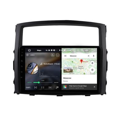 Belsee Best Aftermarket Mitsubishi Pajero 4 V80 V90 2006-2014 Wireless Android 10 Auto Apple CarPlay Head Unit Stereo Upgrade 9 inch Touch Screen Radio Replacement Audio Bluetooth Wifi PX6 DSP GPS Navigation System Sat Nav OBD2 DAB+