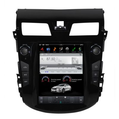 Belsee Best Aftermarket Android 9.0 Auto Head Unit Tesla Style 10.4 inch Touch Screen Radio Replacement for Nissan Altima Teana 2012-2018 Apple CarPlay GPS Navigation Audio system Bluetooth Wifi PX6 Sat Nav Multimedia Player Stereo Upgrade