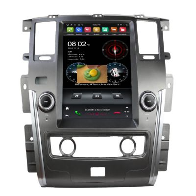 Belsee Best Aftermarket Android 9.0 Auto Head Unit Car Stereo Upgrade Radio Replacement for Nissan Patrol 2010-2020 12.1 inch Tesla Style Vertical Screen In Dash GPS Navigation Audio Multimedia Player PX6 Ram 4GB 4G Apple CarPlay Android Auto Bluetooth