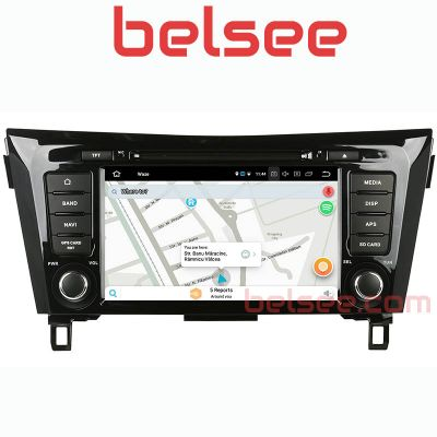 Belsee Aftermarket Best Android 10 Auto Head Unit Autoradio Car Stereo Upgrade GPS Navigation for Nissan X-Trail Qashqai Dualis Rogue 2013 2014 2015 2016 2017 8 Inch Touch Screen Audio Multimedia System Replacement Wireless Apple CarPlay Wifi PX6 Bluetoot