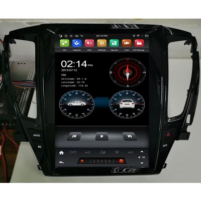 Belsee Android 9.0 Auto Head Unit Stereo Upgrade Car Radio Replacement for Mitsubishi Pajero Sport / L200 2016-2020 12.1 inch Tesla Style Vertical Screen Apple CarPlay In Dash GPS Navigation System PX6 Ram 4GB Multimedia Player 4G Bluetooth Wifi OBD2 TPMS
