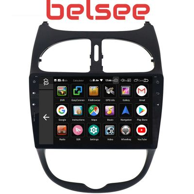 Belsee Aftermarket Android 9.0 Pie Auto Head Unit Car Radio Replacement Stereo Upgrade for Peugeot 206 1998-2009 9 inch IPS Touch Screen DSP Multimedia Player In Dash GPS Navigation System Octa Core PX5 Ram 4GB Rom 64GB Apple CarPlay Android Auto