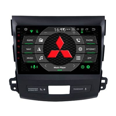 Belsee Best Aftermarket Wireless Apple CarPlay Android 10 Auto Head Unit Stereo Upgrade Autoradio for Mitsubishi Outlander 2 Citroen C-Crosser Peugeot 4007 2005-2013 GPS Navigation System 9 inch IPS Touch Screen Radio Replacement Wifi Bluetooth PX6 Sat Na