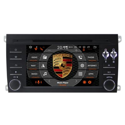 Belsee Aftermarket Android 8.0 Head Unit Radio Autoradio Porsche Cayenne 2003 2004 2005 2006 2007 2008 2009 2010 in Dash GPS Navigation System Bluetooth Receiver Multimedia Player Support Apple Carplay Android Auto