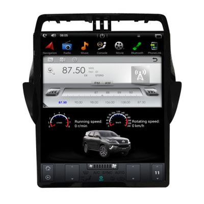 Belsee Aftermarket 17 inch IPS Touch Screen Tesla Style Android 9.0 PX6 Head Unit Car Radio for Toyota Land Cruiser Prado 2018 2019 In Dash GPS Navigation System Audio Music Multimedia Player Stereo Upgrade Apple CarPlay Android Auto Ram 4GB Bluetooth