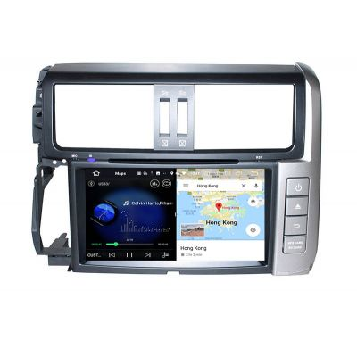 Belsee Best Aftermarket Android 10 Auto Head Unit Car Radio Replacement Stereo Upgrade for Toyota Land Cruiser Prado J150 2009-2013 9 inch IPS Touch Screen GPS Navigation Multimedia Player System PX6 Ram 4GB Rom 64GB Apple CarPlay Wifi Bluetooth OBD2 DSP