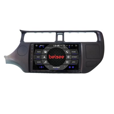 Belsee Best Aftermarket Android 10 Auto Wireless Apple CarPlay Head Unit Radio Replacement for Kia Rio 2011-2015 9 inch IPS Touch Screen Stereo Upgrade GPS Navigation System Audio Video Player Multimedia Autoradio Wifi Bluetooth PX6