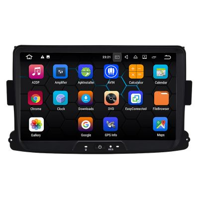 Best Aftermarket 8 inch Autoradio Stereo for Renault Dacia Duster Logan Sandero Android 8.0 Oreo Octa Core PX5 Ram 4GB Rom 32GB Car Radio Player GPS Head Unit Navigation System Wifi Bluetooth DAB+