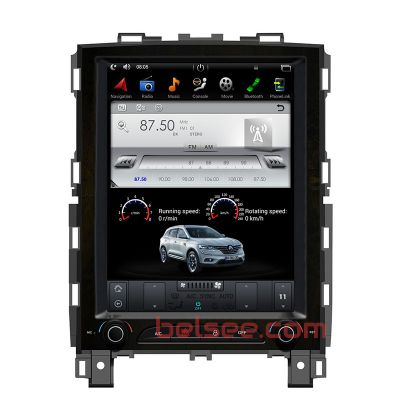 Belsee Best Aftermarket Renault Koleos Megane IV 4 2016 2017 2018 2019 2020 Tesla Vertical 10.4 Inch IPS Touch screen Android 7.1 PX3 / 9.0 PX6 Auto Head Unit Radio Replacement Stereo Upgrade In Dash GPS Navigation Audio System Multimedia Player CarPlay