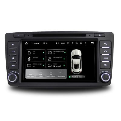 Belsee Skoda Octavia 2009-2015 Aftermarket Android 9.0 Auto Radio Replacement Head Unit Stereo Upgrade 8 Inch Touch Screen GPS Navigation Audio Video Multimedia DVD Player System Apple CarPlay Android Auto Octa Core PX5 Ram 4GB Tape Recorder