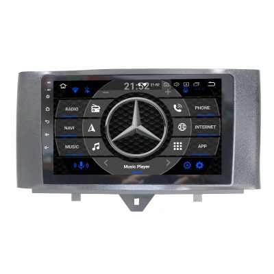 Belsee Best Aftermarket Android 10 Auto Head Unit Radio Replacement for Mercedes-Benz Smart Fortwo 2010-2015 9 inch IPS Touch Screen Stereo Upgrade GPS Navigation System Bluetooth Wifi Apple CarPlay Sat Nav Multimedia Player