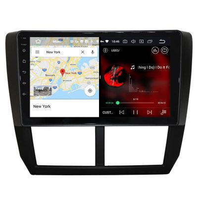 Belsee Best Aftermarket Android 10 Auto Stereo Upgrade Radio Replacement for Subaru Forester 3 SH WRX Impreza GH GE 2007-2013 In Dash 9 inch Touch Screen GPS Navigation System Wireless Apple CarPlay Bluetooth Video Audio Multimedia Player Sat Nav Wifi