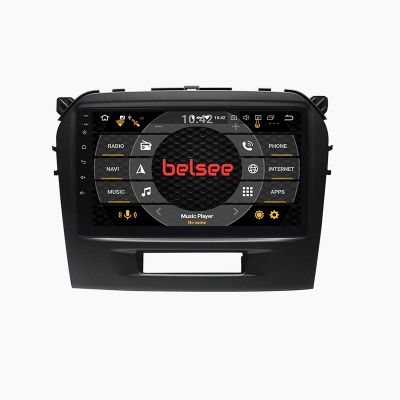 Belsee Best Aftermarket 9 inch Touch Screen Radio Replacement for Suzuki Vitara 2015-2021 Wireless Apple CarPlay Android 10 Auto Head Unit Stereo Upgrade GPS Navigation System Audio Video Multimedia Player Bluetooth Wifi Sat Nav Back Up Camera PX6